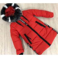 Подовжена дитяча зимова куртка для дівчинки