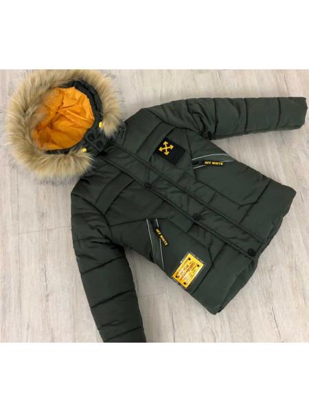 Тепла зимова куртка для хлопчика