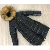 Довга дитяча куртка для дівчинки зимова
