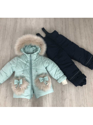 Дитячий зимовий костюм на дівчинку 1 2 3 4 роки