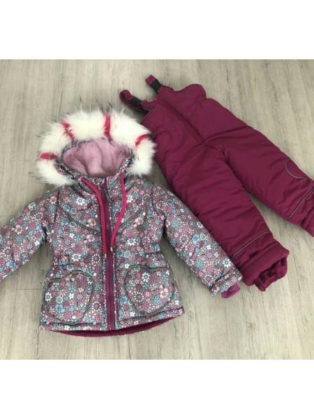 Зимовий костюм для дівчинки 1 2 3 4 роки