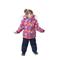 Детский зимний костюм для девочки на флисе