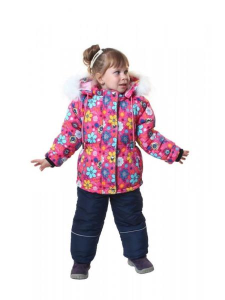 Дитячий зимовий костюм для дівчинки на флісі