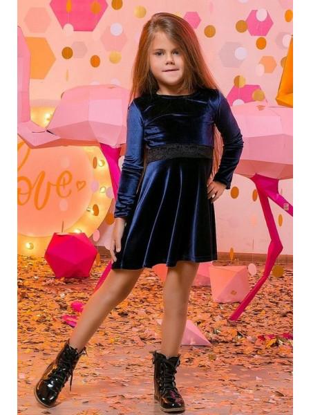 Бархатное платье для девочки