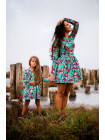 Плаття з квітковим принтом для дівчинки
