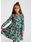 Платье с цветочным принтом для девочки