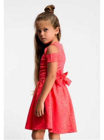 Детское платье с открытыми плечами