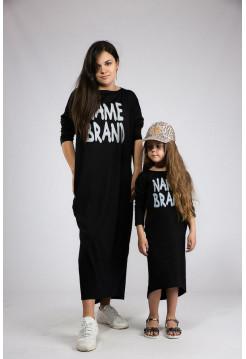 Дитяча сукня туніка асиметричного крою