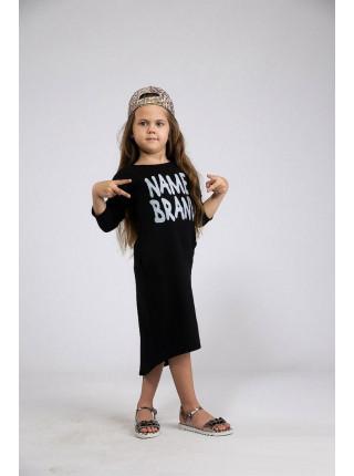 Детское платье туника асимметричного кроя
