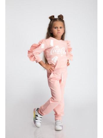 Спортивный костюм с рюшами для девочки