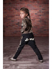 Дитячий спортивний костюм з леопардовим принтом