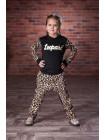 Детский спортивный костюм с леопардовым принтом