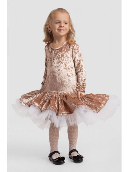 Нарядное детское бархатное платье для девочки