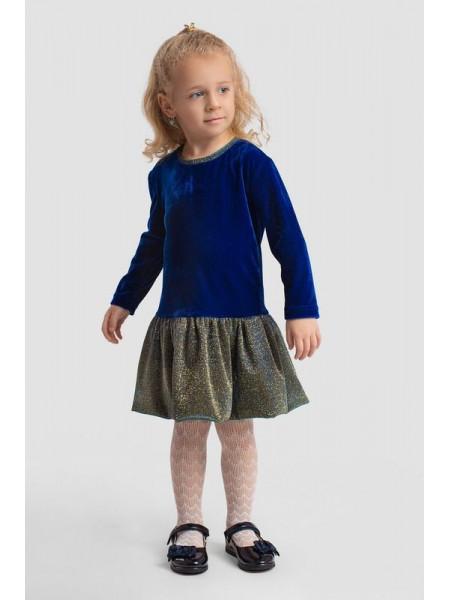 """Дитяче оксамитове плаття з воланом """"Вечірнє"""""""