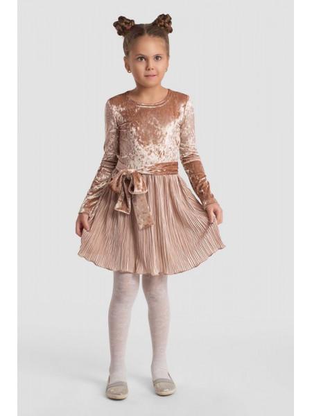 Нарядное бархатное платье для девочки
