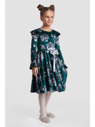 Вечернее детское платье с бантом