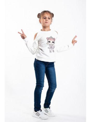 Свитшот на девочку с открытыми плечами