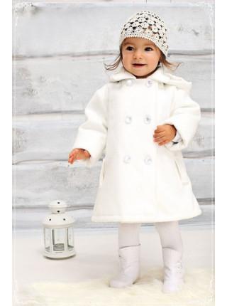 Кашемірове дитяче пальто для дівчинки