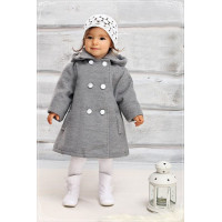 Кашемировое детское пальто для девочки