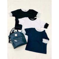 Детская школьная блузка с коротким рукавом