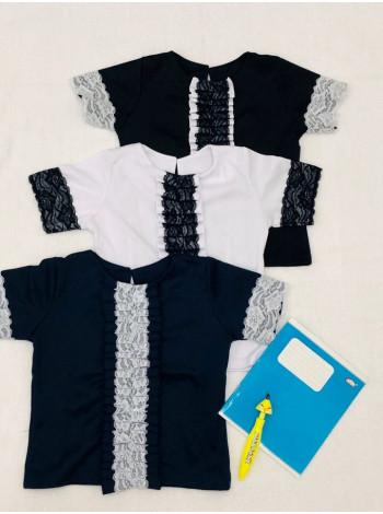 Школьная блузка с кружевом для девочки