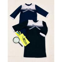 Трикотажное школьное платье