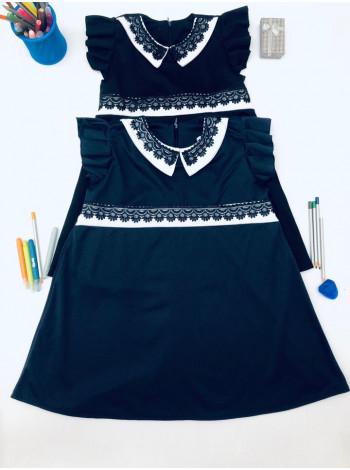 Шкільне плаття з рукавами крильцями
