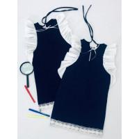 Прямое школьное платье для девочки