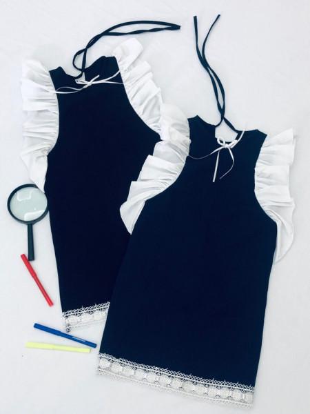 Пряме шкільне плаття для дівчинки