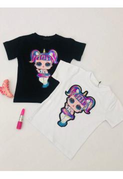 Детская футболка с принтом для девочки