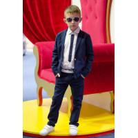 Школьный льняной костюм для мальчика