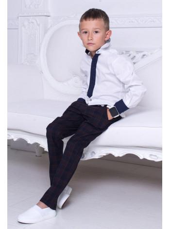 """Белая рубашка для мальчика """"Галстук"""""""
