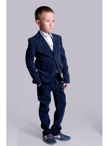 Дитячий вельветовий костюм для школи