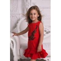 Дитяче лляне плаття для дівчинки