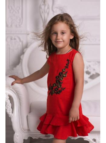 Детское льняное платье для девочки