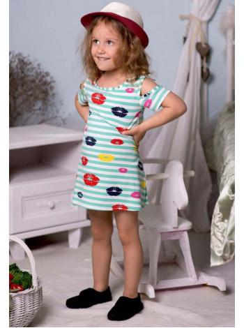 Летнее детское платье морячка