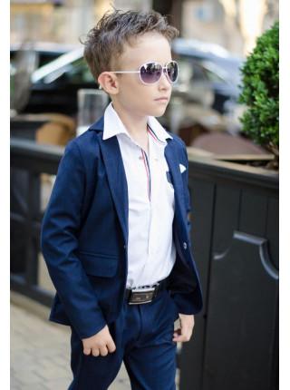 Синий школьный костюм для мальчика
