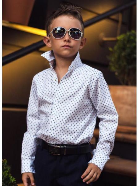Модна шкільна сорочка на кнопках для хлопчика