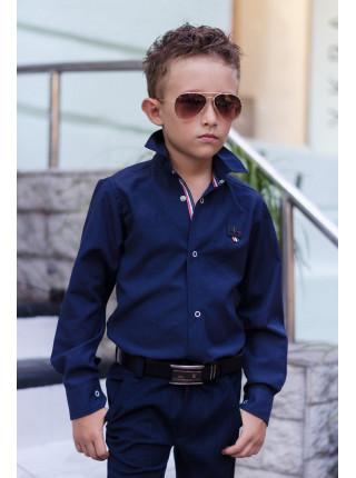 Детская школьная рубашка для мальчика на кнопках