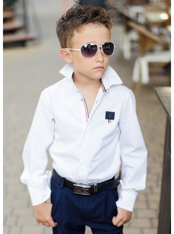 Дитяча шкільна сорочка для хлопчика на кнопках