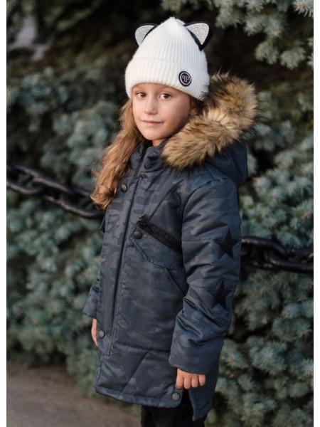 Детская зимняя куртка для девочки подростка