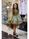 Бальное детское платье со шлейфом на выпускной