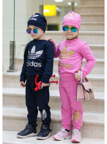 Трикотажный спортивный костюм тройка для девочки