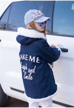 Дитяча джинсова куртка парка підліткова для дівчинки