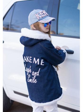 Детская джинсовая куртка парка подростковая для девочки