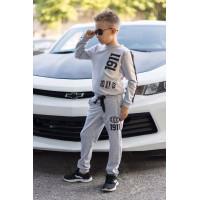 Модный трикотажный спортивный костюм для мальчика