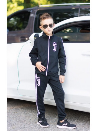 Трикотажный спортивный костюм с лампасами для мальчика