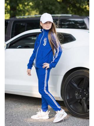Трикотажный спортивный костюм с лампасами для девочки