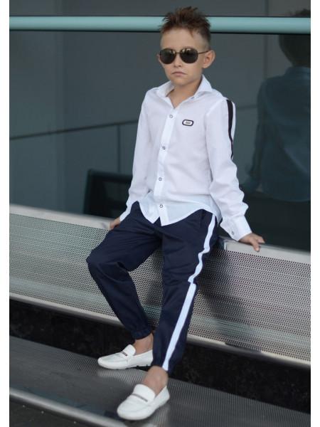 Детские брюки с лампасами для мальчика