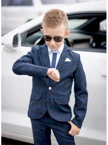 Модний шкільний костюм у клітинку для хлопчика
